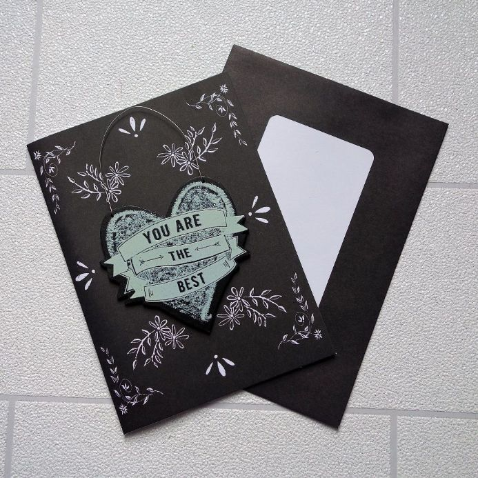 50% OFF Heart hanger 'you are the Best' Card